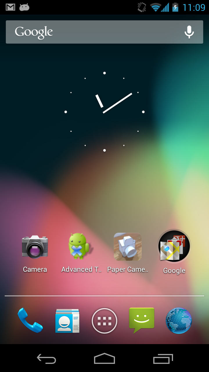 Galaxy Nexus Phone: Home Screen